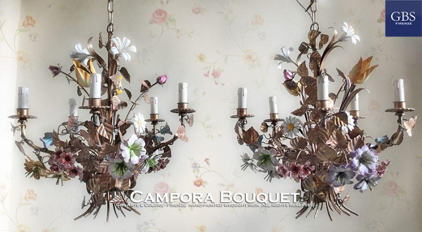 Lampadario Campora Bouquet. Versione a 5 Luci