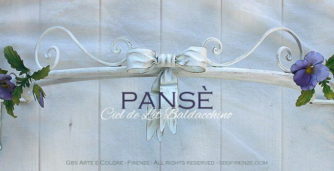 Pansy Bed Canopy. With bow.