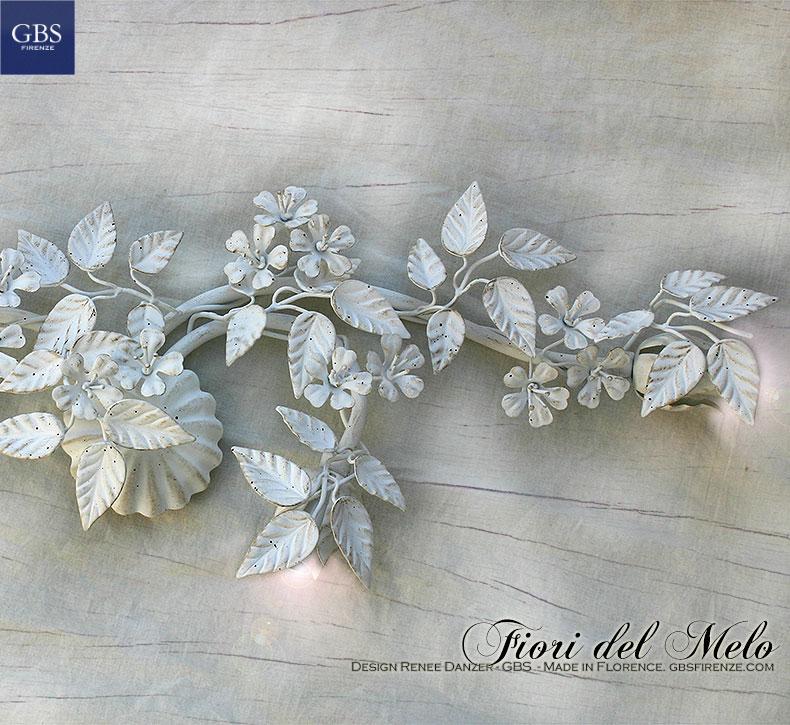 Fiori del Melo. Applique – Plafoniera con tre faretti