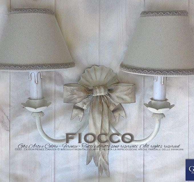 Applique Fiocco 2 luci – Avorio e Biscotto