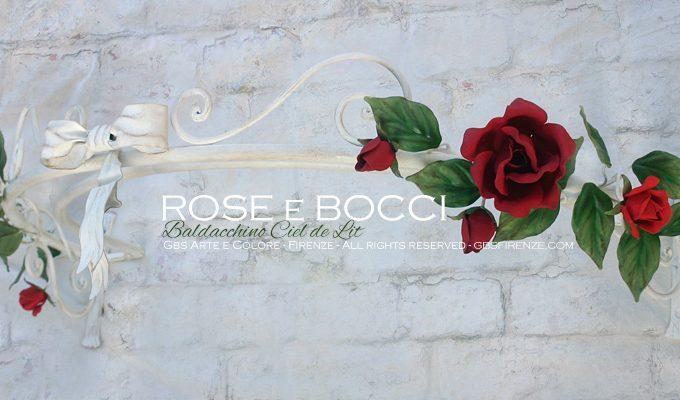 Ciel de lit Rose e Bocci. Baldacchino romantico