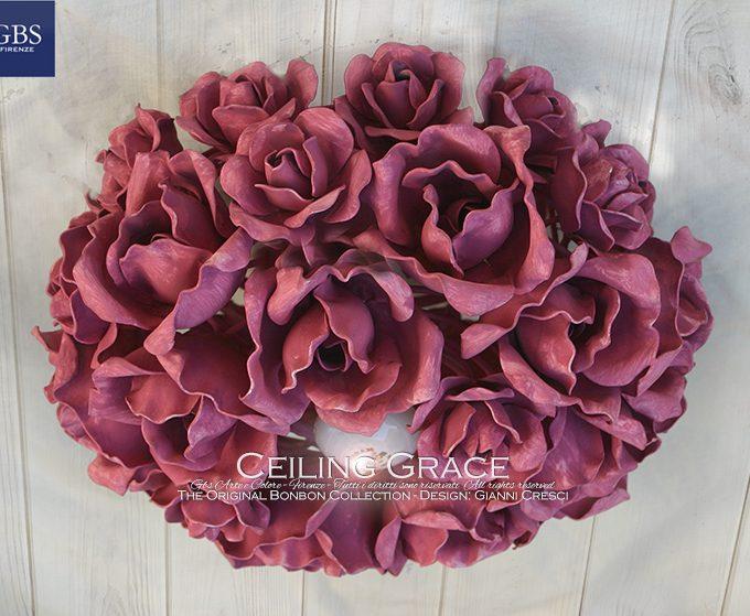 Grace di Rose. Plafoniera ad una luce centrale