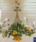 Lampadario Calendimaggio. Colori giallo e albicocca