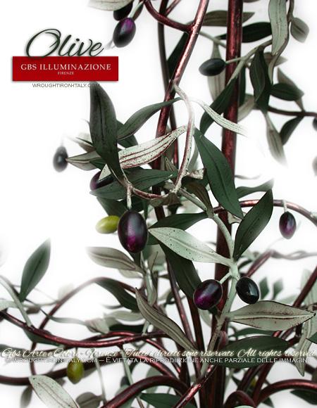 Lampadario Olive a 6 Luci - Dettaglio