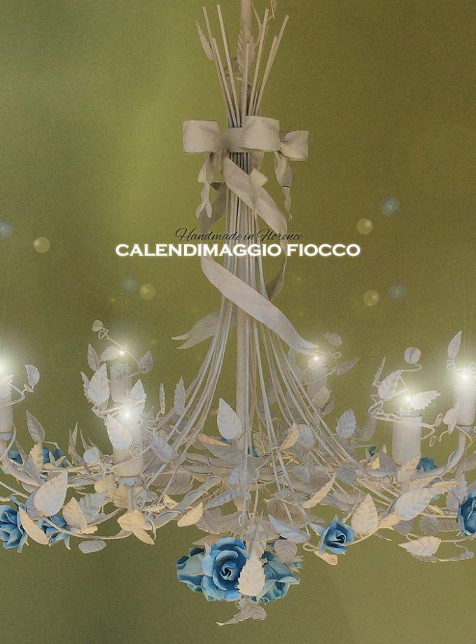 Lampadario Calendimaggio Fiocco. 6 Luci