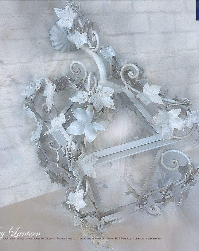 Lanterna Edera. 1 Light Ivy Lantern – Wall Light version
