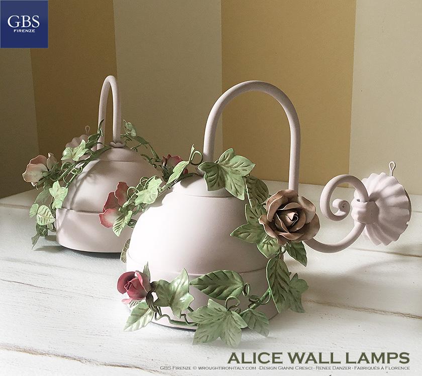 Alice Edera e Rose GBS Applique Ferro battuto. Made in Italy. Design: gianni Cresci e Renee Danzer