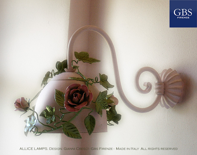 Alice Applique. Edera e Rose. 1 Luce.