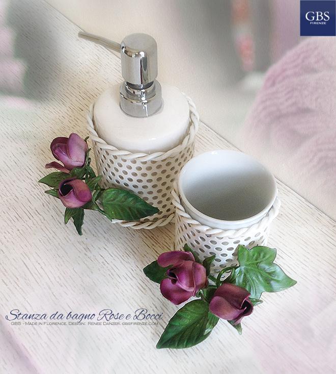 Accessori per il bagno, Rose e Bocci. Ferro battuto. GBS