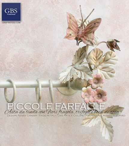 Asta da tenda Piccole Farfalle - Bastone su misura - Shop online