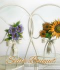 Sedia Bouquet. Girasoli e Viole. GBS, Made in Florence