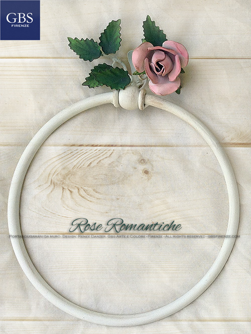 Anello Portasciugamani. Bagno Rose Romantiche