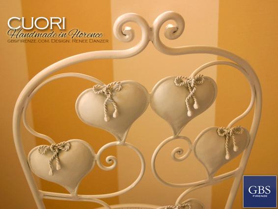Sedia di Cuori. GBS Firenze. Design Renee Danzer.