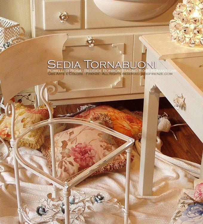 Sedia Tornabuoni – Roselline rampicanti