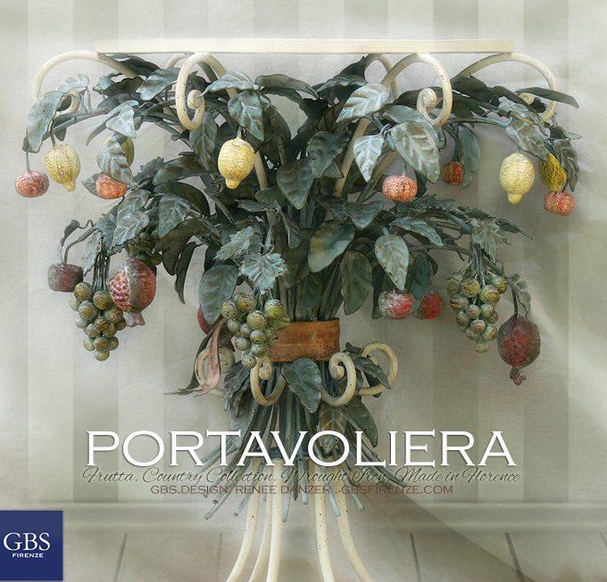 Portavoliera Frutta. avolino da caffè e da salotto, perfetto per la cucina in stile country
