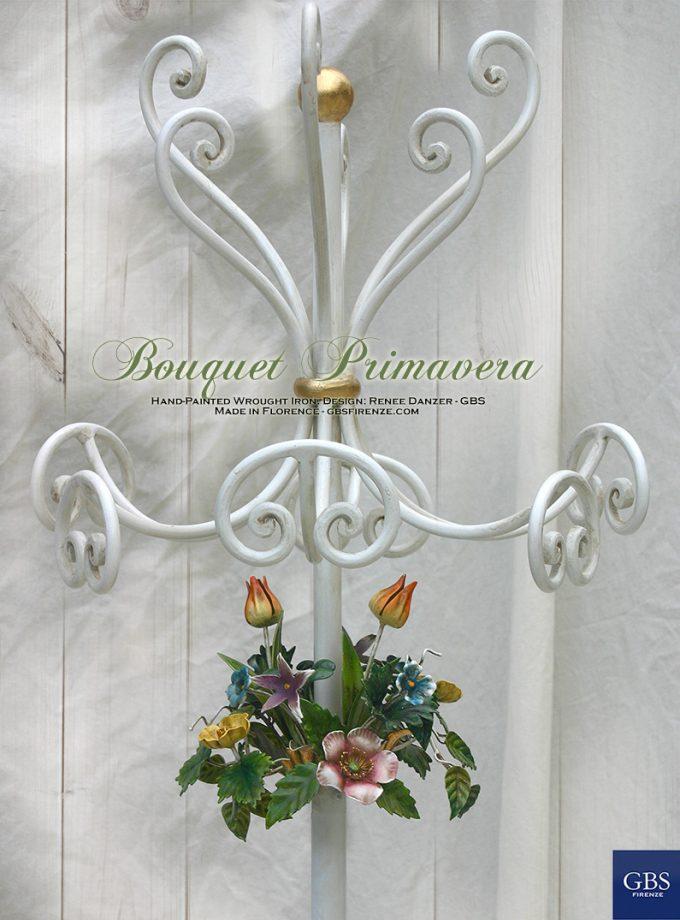 Apprendi abiti con Bouquet primavera. Ferro battuto